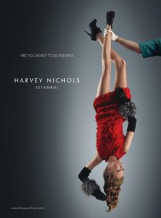 Harvey Nichols ad campaigns are always creative and unusual. These ads by Concept, Turkey continue the strike with a clever concept of sho. Ads Creative, Creative Advertising, Print Advertising, Advertising Campaign, Print Ads, Harvey Nichols, Funny Ads, Beauty Ad, Best Ads