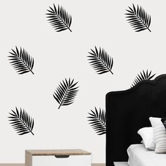 Image of Palm Leaves Wall Decals (Set) Wall Decals, Vinyl Decals, Wall Prints, Palm, Nursery, Leaves, Image, Design, Home Decor