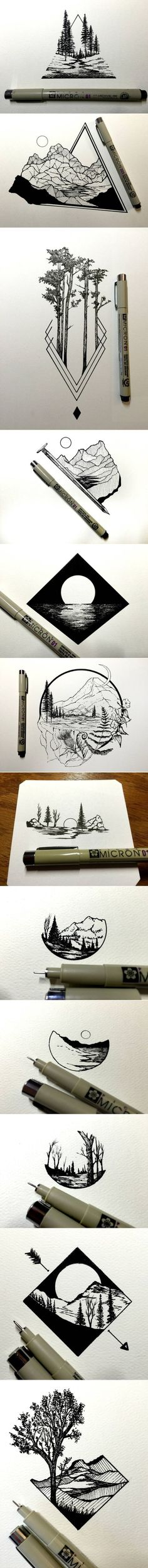 111 Insanely Creative Cool Things to Draw Today #LandscapeSketch