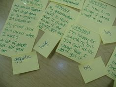 Post-it Note Counseling Such a NEAT idea! Looks like it could really help students sort out their thoughts in a tangible/visual way