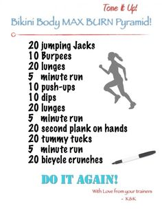 Bikini workout. Gonna start doing this every day until August 4th. Who's with me?