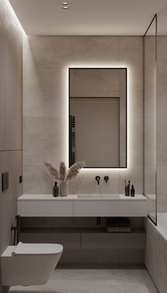 Washroom Design, Bathroom Design Luxury, Modern Bathroom Design, Luxury Bathrooms, Modern House Design, Toilet And Bathroom Design, Small Toilet Design, Small Bathroom Interior, Minimalist Bathroom Design
