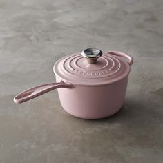PINK!!! COME ON NOW !!! Le Creuset Signature Cast-Iron Saucepan | Williams-Sonoma