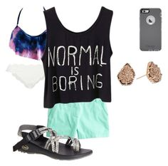 Swim ♡ :) by ryleeolson on Polyvore featuring polyvore, fashion, style, J.Crew, Marysia Swim, Chaco, Kendra Scott and clothing