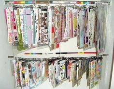 Scraproom: Closet Clip-It-Up Storage System