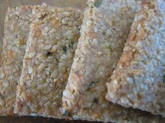 White Cheddar and Chive Crackers