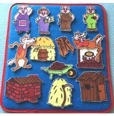 Three Little Pigs   Felt / Flannel Board Set  3 Little Pigs children's story