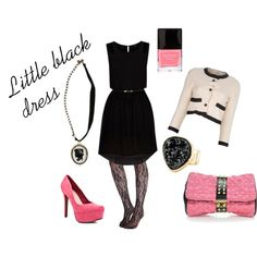 Little black dress, created by michellemiller-1 on Polyvore