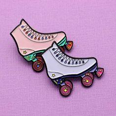 Roller Skate Enamel Pin #roller #skates #rollerskating #rollerskates #pin #punkypins #punky #pink #cool #enamel #pin #enamelpin