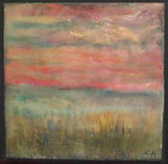 Beautiful encaustic.