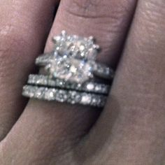 My Engagement Ring A Flawless Cushion Cut 27 Pave Solitaire In Channel Band Setting