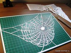 Template SVG Cobweb Papercutting Template Paper by NineFingerJo