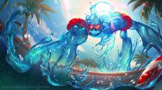 League of Legends: Pool Party Zac by GisAlmeida.deviantart.com on @deviantART