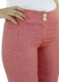 Pantalón Veza #moda #lino #SS2015 www.abito.com.mx