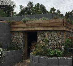 Gabion lined wine cellar http://www.gabion1.com.au