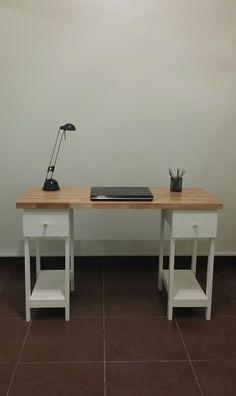 Escritorio / Finger + bases con cajones