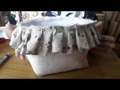 Tutorial porta oggetti cucito creativo - YouTube