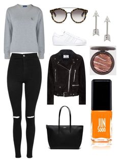 """""""Sans titre #3855"""" by yldr-merve ❤ liked on Polyvore featuring Polo Ralph Lauren, Topshop, adidas, STELLA McCARTNEY, Acne Studios, Lacoste, Banana Republic and JINsoon"""