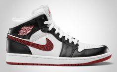 """Air Jordan 1 Phat """"What/Varsity Red/Black"""" (June 2012 release, retail $105)"""