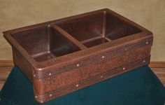Mountain Rustic Copper Farm kitchen sink (under mount)  www.mtncoppercreations.com