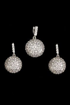 Silver & Co  Stunning Sterling Silver Earrings And Pendant Set  $165.00