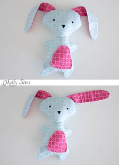 Floppy eared rabbit - Sew a Bunny - DIY Easter Bunny Tutorial - Free Pattern to sew this cute bunny - would make a great baby gift! - Melly Sews #iloverileyblake #fabricismyfun