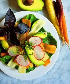 Cooling Carrot, Dill, And Avocado Salad With Lemon Vinaigrette- Sakara