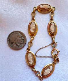 Vintage 12K GF Victorian Shell Cameo Oval Framed by NativeBliss