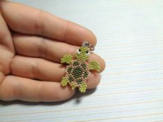 Sea turtle charm beaded sea turtle sea turtle by Creadivacreations