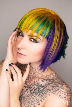 omg awesome rainbow hair