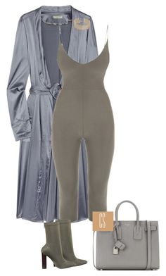 """""""Untitled #1146"""" by vladacatalleyag on Polyvore featuring Burberry, Yves Saint Laurent and R.J. Graziano"""