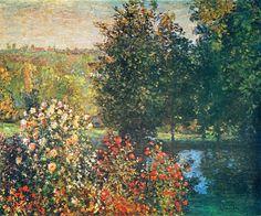 Claude Monet - Roses in the Hoshede's Garden at Montregon