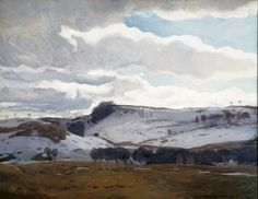 Kent, Rockwell (1882-1971)  -   Winter Landscape, 1909, oil on canvas,  dimensions 38 x 44 in. 41 x 59 1/2 in.  | Indianapolis Museum of Art