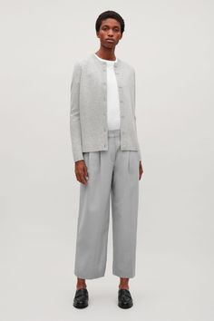 COS | Lambswool cardigan with back pleat