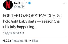 """1,437 Likes, 16 Comments - Bitchin' (@stranger.from.the.80s) on Instagram: """"ITS OFFICIAL stranger things has been renewed for season 3 . YEET"""""""