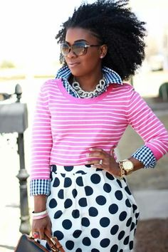 gingham + stripes + polka dots | love all the color