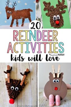 20 reindeer activities for kids, including arts & crafts DIY decorations and ornaments, STEM and math challenges, and other great ideas for Christmas. Make your own Rudolph today! #reindeer #craftsforkids #reindeeractivities #xmasactivities #christmascrafts