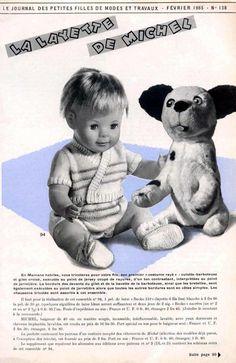 PAR AMOUR DES POUPEES :: M&T 1965-02 La layette de Michel (tricot)