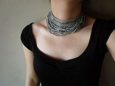 Tale ... Freeform Crochet Necklace by irregularexpressions on Etsy