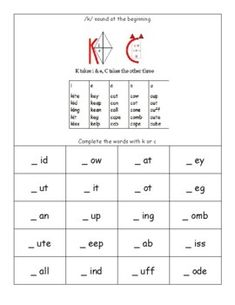 Consonants That Vary - the /k/ sound at the start of words by Super Tutor Tools