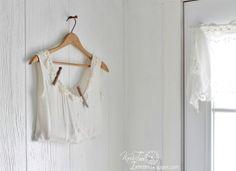 Repurposed Clothing Clothespin Bag Laundry Room Remodel via http://knickoftimeinteriors.blogspot.com/