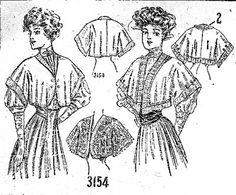 Bolero, Ladies' Home Journal- 1907 -Original- Pre 1929 Historical Pattern Collection