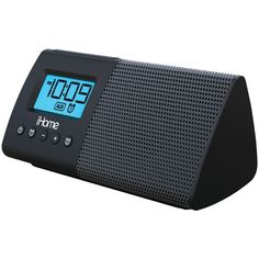 Ihome Ihm46Bc Portable Usb Charging Dual Alarm Clock Speaker System
