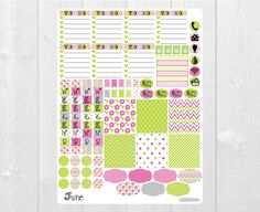 Available at CraftedByCorley on Etsy: June Stickers - Monthly Color Stickers for Erin Condren Horizontal Planner and More