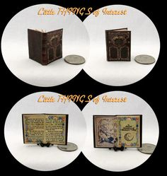 Purchase $50.00 or more and receive free shipping. Use Coupon Code: 50FREESHIP  Inspired by the movie The Secret of Moonacre, my miniature book has 12 pages and measures approximately 1 inch high by 3/4 of an inch wide. The title is printed on the spine so it will look GREAT open or closed.  All my books that are 1/12 scale have miniature hard covers. Most of my miniature books are readable BOOKS. They are printed on both sides of the page with a readable passages drawn from the act...