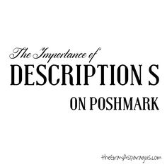 We talk all the time about the importance of powerful and attention-grabbing covershots. But sometimes we ignore the importance of descriptions on Poshmark! Unfortunately, accurate and responsible describing is often overlooked by even the most experienced Poshers. Some closets have such stellar reputations that you know what you are getting will be nothing less thanRead more