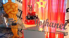 Decoración de 15 años. Temática Hollywood 6 (Mesa de torta)