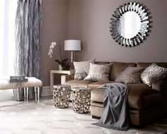 Beautiful use of neutrals. Living Room Ideas, Living Room Decorating & Design Ideas |