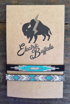 Turquoise and Silver Bracelet Set by ShopElectricBuffalo on Etsy Native Beading Patterns, Bead Embroidery Patterns, Seed Bead Patterns, Embroidery Jewelry, Native Beadwork, Loom Bracelet Patterns, Bead Loom Bracelets, Bracelet Set, Seed Bead Jewelry