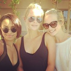 Kat Graham , Claire Holt and Candice Accola #tvd